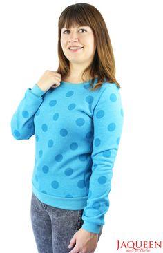 Sweatshirts - Pullover Punkte türkis - ein Designerstück von JAQUEEN-handmade-streetwear-berlin bei DaWanda