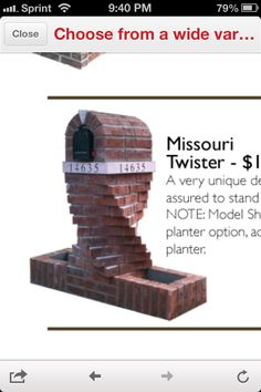 This is the brick mailbox I want to build minus the planters. Brick Mailbox, New Mailbox, Mailbox Ideas, Landscape Plans, House Landscape, Outdoor Projects, Home Projects, Home Mailboxes, Brick Art