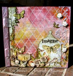 Using Clear Scraps, Faber Castell Design Memory Craft, Gelatos, Pink Paislee papers