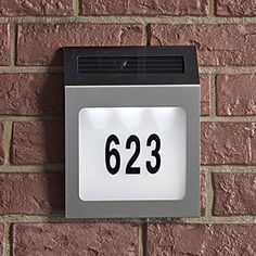 Zoomed-in Version of this image for Solar Address Light Solar Light Bulb, Solar Lights, Gadgets And Gizmos, Cool Gadgets, Garden Accent Lighting, Solar House Numbers, Solar Battery, Home Signs, Flip Clock