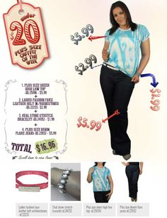 """599fashion.com - Everything $5.99 or Less Check out this weeks """"PLUS SIZE - UNDER $20 Outfit"""", a complete look for under $20.00."""