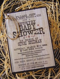 Crazy For Design: Country Theme Baby Shower Revealed