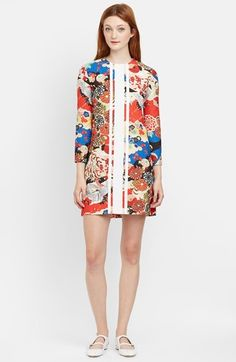 Carven Quilted Floral Shift Dress available at #Nordstrom