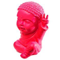 moine bouddha - buddha Iki rose fluo