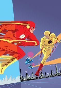 The Flash vs Reverse Flash by Darwyn Cooke
