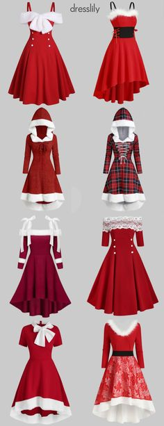 Red Christmas dress for women #dresslily #christmas #dresses #red #winter #cozy #party #women #funny #holiday #fancy