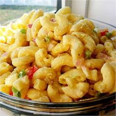 This is the best macaroni salad! I used red wine vinegar instead of the white and I used sweet and spicy mustard instead of the yellow, cut out the green peppers, and halved the sugar, came out fantastic!