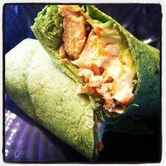 Asian Chicken Wraps #hellmanns #cleanliving #makedinner365