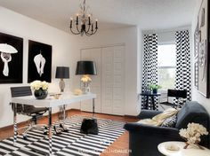Charmant Black U0026 White Office Eclectic Home Office