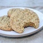almond butter and chia seed cookie recipe...use coconut oil instead of butter...cut back on sugar a bit.