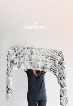 stamped scarf (includes stamp making instructions)  [almost makes perfect]