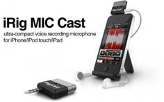 """#iRig MIC Cast Makes Podcast Recording On-The-Go Possible: Available Now"""" #iphoneaccessories #recorder"""