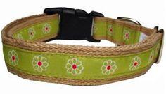 George Green Flower Ribbon Collar