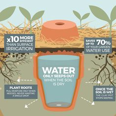 How to make your garden drought proof, using unglazed clay pots. - The Permaculture Research Institute Haus&Co How to make your garden drought proof, using unglazed clay pots. - The Permaculture Research Institute Organic Gardening, Gardening Tips, Vegetable Gardening, Urban Gardening, Flower Gardening, Permaculture Garden, Gardening Gloves, Indoor Gardening, Gardening Supplies