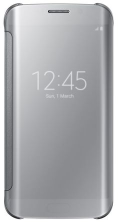Samsung Clear View Case suits Samsung Galaxy S6 Edge - Silver - This case is a smart innovation of the flip cover. The flip cover protects the display in the same manner as the flip covers, however this one has a s...:
