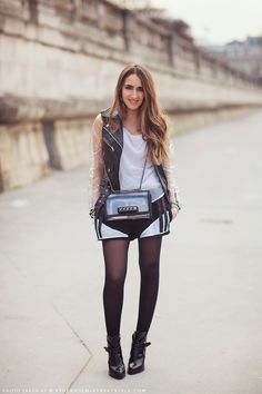 #StreetStyle Malak working transparent bits and bobs and it is fab. Paris.