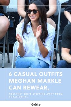 6 Casual Outfits Meghan Markle Can Rewear Now That She's Stepping Away from Royal Duties Meghan Markle Outfits, Meghan Markle Style, Madewell Denim, Topshop Jeans, Royal Fashion, Style Fashion, Spanx Pants, Mother Jeans, Dress Picture