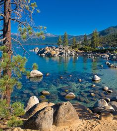 Sand Harbor, Lake Tahoe (Cool Places To Live) Dream Vacations, Vacation Spots, Places To Travel, Places To See, Lac Tahoe, Photos Voyages, Adventure Is Out There, Nature Pictures, Belle Photo