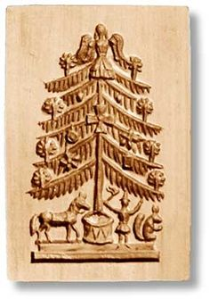 Charm your guests with cookies made from this Victorian Christmas Tree with Toys springerle mold. Free-how-to videos on baking and crafting with cookie molds. Christmas Tree Cookies, Christmas Tree With Gifts, Christmas Ideas, Dutch Cookies, Victorian Christmas Tree, Springerle Cookies, Butter Molds, Paperclay, How To Make Cookies