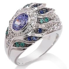 """Victoria Wieck 2.14ct Absolute™ Tanzanite-Color """"Peacock"""" Ring at HSN.com"""