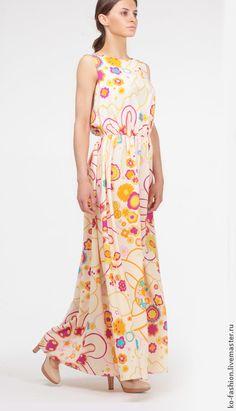 Шелковое платье с цветочным принтом #dress #fashion