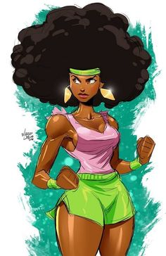 "marcusthevisual: "" Super Natural says I should work out… but it's my B-Day and I'll draw if I want to and such :) A big thank you to all the great B-Day wishes from everyone! Peace ya'll. Black Girl Art, Black Women Art, Black Girls, Black Cartoon, Cartoon Art, African American Art, African Art, Character Art, Character Design"