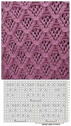 Knitting Stitches Lace Ganchillo 63 Ideas For 2019 Lace Knitting Stitches, Lace Knitting Patterns, Knitting Charts, Lace Patterns, Knitting Designs, Stitch Patterns, Tricot D'art, Knit Lace, Cable Knit