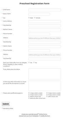 Easy To Customize Volunteer Application Form ItS Free