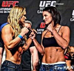 Two my fave kicka$$ Women MMA Fighters...Rhonda Rousey and Gina Carano!