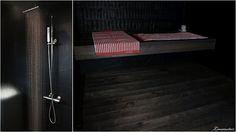 Love this dark coloured sauna! http://luumutar.blogspot.com/2012/05/saunailtaa.html