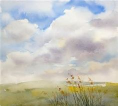 Résultat d'images pour watercolor paintings of clouds and skies