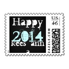 Happy New Year Postage Stamps