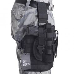 OneTigris Tactical Airsoft Molle Drop Leg Platform & Pistol Holster with Mag Pouch for Right Handed Shooters 1911 45 92 96 Glock Pistol Holster, Tactical Gear, Holsters, Drop Leg Holster, Molle Pouches, Adjustable Legs, Airsoft Guns, Velcro Straps, Survival