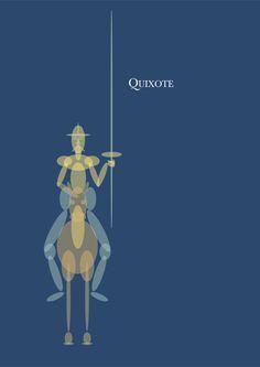 Dom Quixote. Ilustração digital. Paulo Moura, 2014.