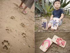 Footprint flip flops.