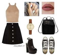 """""""outfit n.5"""" by itsmekate11 on Polyvore featuring AG Adriano Goldschmied, Bucco, Converse, DKNY and Skagen"""