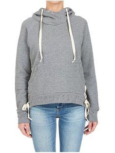 BLACK ORCHID Long Sleeve Side Lace Down Pullover Sweatshirt Hoodie Top S $212 #BlackOrchid #Hoodie