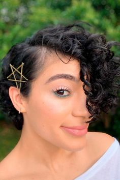Short Hairstyle With Pins ❤ Here you can learn how to use a bobby pin in order to make your hairstyle more dressed up and beautiful. Check out our creative ideas! #bobbypin #lovehairstyles #hair #hairstyles #haircuts