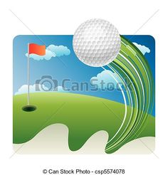 Vector - golf sport - stock illustration, royalty free illustrations, stock clip art icon, stock clipart icons, logo, line art, EPS picture, pictures, graphic, graphics, drawing, drawings, vector image, artwork, EPS vector art