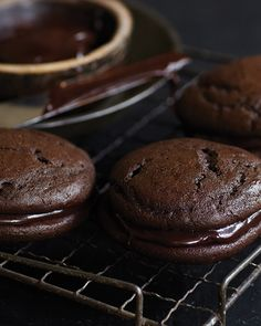 Whoopie Pies with Chocolate Ganache - http://www.sweetpaulmag.com/food/whoopie-pies-with-chocolate-ganache #sweetpaul