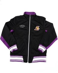 Lakers Tricot Track Jacket (8-20). Get it at DrJays.com dbe328321f1f7