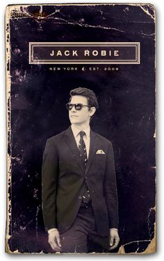Jack Robie - I don't know the book, but loved the cover.  Read he was a thief; now it's a shirts brand???