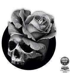 Skull rose artwork manipulation photomanipulation sake saketattoo saketattoocrew  Skullart