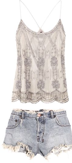 Oooo great date outfit for casual Summer with some glitz? Mode Outfits, Casual Outfits, Fashion Outfits, Fashion Trends, Hipster Outfits, Womens Fashion, Cute Summer Outfits, Spring Outfits, Summer Clothes