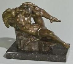 Bronze Sculpture; De Lue (Donald Harcourt), signed 1970/87, Leda & the Swan, Tallix, 11 inch.