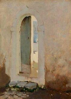 Doorway, Capri. John Singer Sargent.