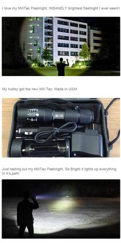 NightForce Military Flashlight, Lumitact G700, Shadowhawk X800, T2000