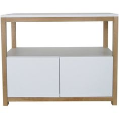 Bellila SAS White Buffet Bellila - BuB (1,670 CAD) ❤ liked on Polyvore featuring home, furniture, storage & shelves, sideboards, black, black sideboards, black buffet, white buffet, white sideboards and white furniture