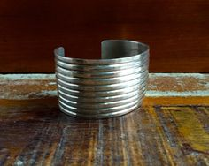 Vintage Navajo Sterling Silver Cuff by HoneyBeeHillVintage on Etsy