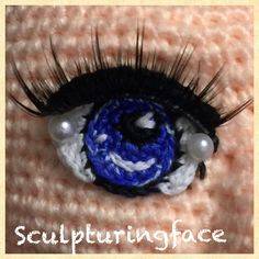 Crocheted eyes by Sculpturingface